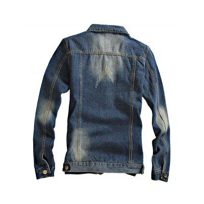 Chic Long Sleeves Jeans Jacket for Men