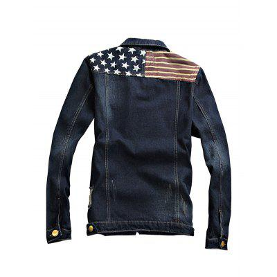 Faddish Long Sleeves Jeans Jacket for MenMens Jackets &amp; Coats<br>Faddish Long Sleeves Jeans Jacket for Men<br><br>Closure Type: Single Breasted<br>Clothes Type: Others<br>Embellishment: Others<br>Materials: Cotton, Polyester<br>Package Content: 1 x Jacket<br>Package Dimension: 20.00 x 20.00 x 2.00 cm / 7.87 x 7.87 x 0.79 inches<br>Package weight: 0.9400 kg<br>Pattern Type: Others<br>Product weight: 0.9000 kg<br>Seasons: Autumn,Spring<br>Shirt Length: Regular<br>Sleeve Length: Long Sleeves<br>Style: Fashion<br>Thickness: Medium thickness