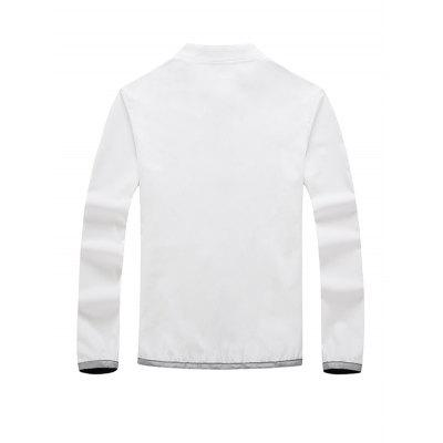 Thin Baseball Collar Leisure Jacket for MenMens Jackets &amp; Coats<br>Thin Baseball Collar Leisure Jacket for Men<br><br>Closure Type: Zipper<br>Clothes Type: Jackets<br>Embellishment: Others<br>Materials: Polyester<br>Package Content: 1 x Jacket<br>Package Dimension: 20.00 x 20.00 x 2.00 cm / 7.87 x 7.87 x 0.79 inches<br>Package weight: 0.4400 kg<br>Pattern Type: Others<br>Product weight: 0.4000 kg<br>Seasons: Autumn,Spring<br>Shirt Length: Regular<br>Sleeve Length: Long Sleeves<br>Style: Fashion<br>Thickness: Thin