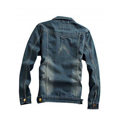 Current Long Sleeves Jeans Jacket for MenMens Jackets &amp; Coats<br>Current Long Sleeves Jeans Jacket for Men<br><br>Closure Type: Single Breasted<br>Clothes Type: Jackets<br>Embellishment: Others<br>Materials: Cotton, Polyester<br>Package Content: 1 x Jacket<br>Package Dimension: 20.00 x 20.00 x 2.00 cm / 7.87 x 7.87 x 0.79 inches<br>Package weight: 0.9400 kg<br>Pattern Type: Others<br>Product weight: 0.9000 kg<br>Seasons: Autumn,Spring<br>Shirt Length: Regular<br>Sleeve Length: Long Sleeves<br>Style: Fashion<br>Thickness: Medium thickness