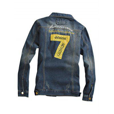 Prevalent Long Sleeves Jeans Jacket for MenMens Jackets &amp; Coats<br>Prevalent Long Sleeves Jeans Jacket for Men<br><br>Closure Type: Single Breasted<br>Clothes Type: Jackets<br>Embellishment: Others<br>Materials: Cotton, Polyester<br>Package Content: 1 x Jacket<br>Package Dimension: 20.00 x 20.00 x 2.00 cm / 7.87 x 7.87 x 0.79 inches<br>Package weight: 0.9400 kg<br>Pattern Type: Others<br>Product weight: 0.9000 kg<br>Seasons: Autumn,Spring<br>Shirt Length: Regular<br>Sleeve Length: Long Sleeves<br>Style: Fashion<br>Thickness: Medium thickness