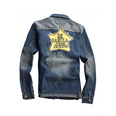 All-match Long Sleeves Jeans Jacket for MenMens Jackets &amp; Coats<br>All-match Long Sleeves Jeans Jacket for Men<br><br>Closure Type: Single Breasted<br>Clothes Type: Jackets<br>Embellishment: Others<br>Materials: Cotton, Polyester<br>Package Content: 1 x Jacket<br>Package Dimension: 20.00 x 20.00 x 2.00 cm / 7.87 x 7.87 x 0.79 inches<br>Package weight: 0.9400 kg<br>Pattern Type: Others<br>Product weight: 0.9000 kg<br>Seasons: Autumn,Spring<br>Shirt Length: Regular<br>Sleeve Length: Long Sleeves<br>Style: Fashion<br>Thickness: Medium thickness