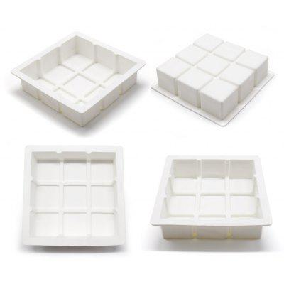 AK Kitchen Baking Utensil Square Grids Dessert Cake Mould