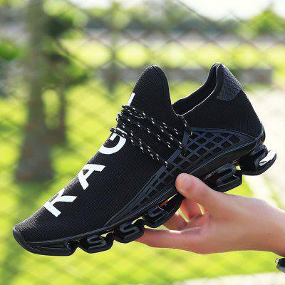 Male Stylish Light Outdoor Soccer Damping SneakersAthletic Shoes<br>Male Stylish Light Outdoor Soccer Damping Sneakers<br><br>Closure Type: Lace-Up<br>Contents: 1 x Pair of Shoes<br>Function: Slip Resistant<br>Lining Material: Mesh<br>Materials: Rubber, Woven Fabric, Mesh<br>Occasion: Sports, Outdoor Clothing, Holiday, Casual, Running<br>Outsole Material: Rubber<br>Package Size ( L x W x H ): 40.00 x 20.00 x 10.00 cm / 15.75 x 7.87 x 3.94 inches<br>Package Weights: 0.72kg<br>Pattern Type: Letter<br>Seasons: Autumn,Spring,Summer<br>Style: Modern, Leisure, Fashion, Comfortable, Casual<br>Toe Shape: Round Toe<br>Type: Sports Shoes<br>Upper Material: Woven Fabric