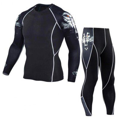 Men Multi-functional Quick-drying Wolf Head Sport Suit