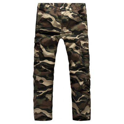 Outdoor Zipper Fly Plus Size Pockets Cargo Pants for Men