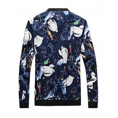 New Style Cartoon Print Male JacketMens Jackets &amp; Coats<br>New Style Cartoon Print Male Jacket<br><br>Closure Type: Zipper<br>Clothes Type: Jackets<br>Collar: Stand Collar<br>Embellishment: Others<br>Materials: Cotton, Nylon<br>Package Content: 1 x Jacket<br>Package Dimension: 40.00 x 30.00 x 4.00 cm / 15.75 x 11.81 x 1.57 inches<br>Package weight: 0.4200 kg<br>Pattern Type: Animal, Print<br>Product weight: 0.4000 kg<br>Seasons: Autumn<br>Shirt Length: Regular<br>Sleeve Length: Long Sleeves<br>Style: Casual, Active, Fashion, Novelty, Streetwear<br>Thickness: Thin<br>Type: Animal