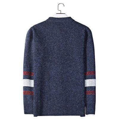 Round Collar Long Sleeves Sweater for MenMens Sweaters &amp; Cardigans<br>Round Collar Long Sleeves Sweater for Men<br><br>Material: Acrylic, Polyester<br>Package Contents: 1 x Sweater<br>Package size: 20.00 x 20.00 x 2.00 cm / 7.87 x 7.87 x 0.79 inches<br>Package weight: 0.4400 kg<br>Product weight: 0.4000 kg