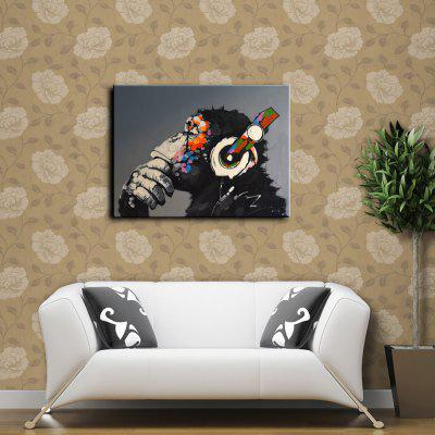YHHP Music Gorilla Canvas Unframed Oil Painting