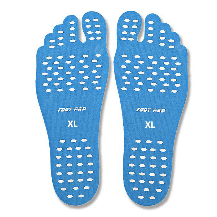 Pair of Beach Invisible Anti-slip Thermal Insulation Foot Insoles
