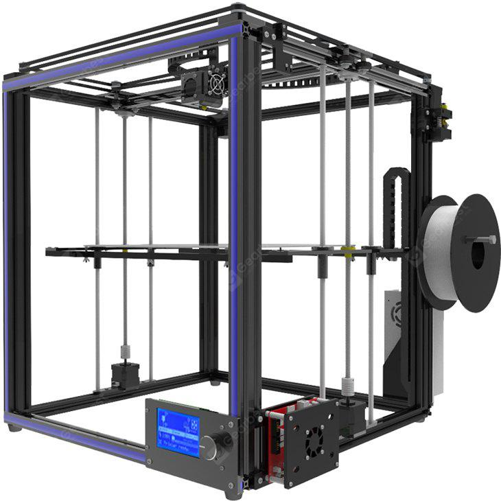 Tronxy X5S High Precision metalni okvir 3D Printer Kit - BLACK EU PLUG
