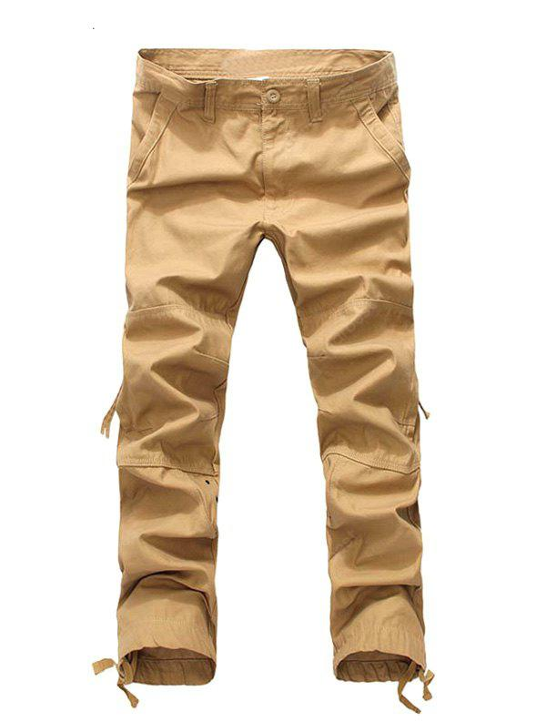 Fashion Zipper Fly Loose Pockets Cargo Pants for Men