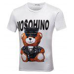 Buy WHITE Fashionable Letter Cartoon Digital Printing Shirt for $21.14 in GearBest store