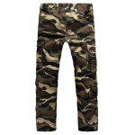 Outdoor Zipper Fly Plus Size Pockets Cargo Pants for Men - DESERT CAMOUFLAGE