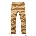 Fashion Zipper Fly Loose Pockets Cargo Pants for Men - EARTHY