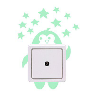 DIY Cute Little Penguin Luminous Switch Wall StickerWall Stickers<br>DIY Cute Little Penguin Luminous Switch Wall Sticker<br><br>Function: Decorative Wall Sticker<br>Package Contents: 1 x Sticker<br>Package size (L x W x H): 11.00 x 5.00 x 5.00 cm / 4.33 x 1.97 x 1.97 inches<br>Package weight: 0.0550 kg<br>Product size (L x W x H): 11.00 x 10.50 x 0.10 cm / 4.33 x 4.13 x 0.04 inches<br>Product weight: 0.0150 kg<br>Subjects: Animal<br>Suitable Space: Bathroom,Bedroom,Hotel,Kids Room,Living Room<br>Type: Plane Wall Sticker
