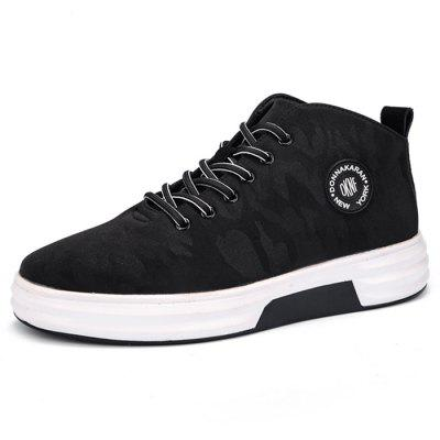 Male Comfortable Soft Pattern High Top Leisure ShoesCasual Shoes<br>Male Comfortable Soft Pattern High Top Leisure Shoes<br><br>Closure Type: Lace-Up<br>Contents: 1 x Pair of Shoes<br>Materials: PU<br>Occasion: Outdoor Clothing, Tea Party, Shopping, Party, Office, Holiday, Daily, Casual<br>Outsole Material: PU<br>Package Size ( L x W x H ): 30.00 x 18.00 x 12.00 cm / 11.81 x 7.09 x 4.72 inches<br>Package Weights: 0.95kg<br>Pattern Type: Letter, Floral<br>Seasons: Autumn,Spring<br>Style: Leisure, Modern, Fashion, Comfortable, Casual<br>Toe Shape: Round Toe<br>Type: Casual Leather Shoes<br>Upper Material: PU