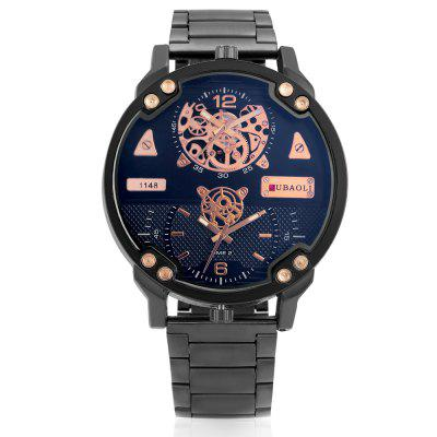 JUBAOLI G1148 Fashion Men WatchMens Watches<br>JUBAOLI G1148 Fashion Men Watch<br><br>Band material: Steel<br>Band size: 18 x 2.2cm<br>Brand: Jubaoli<br>Case material: Alloy<br>Clasp type: Folding clasp with safety<br>Dial size: 5.2 x 5.2 x 1.3cm<br>Display type: Analog<br>Movement type: Double-movtz<br>Package Contents: 1 x Watch, 1 x Box<br>Package size (L x W x H): 8.50 x 8.00 x 5.30 cm / 3.35 x 3.15 x 2.09 inches<br>Package weight: 0.1880 kg<br>Product size (L x W x H): 23.20 x 5.20 x 1.30 cm / 9.13 x 2.05 x 0.51 inches<br>Product weight: 0.1340 kg<br>Shape of the dial: Round<br>Watch style: Fashion<br>Watches categories: Men<br>Water resistance : Life water resistant