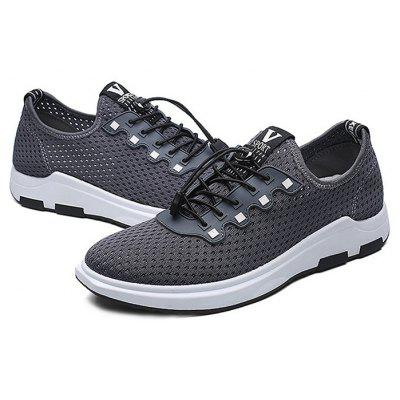 Male Stylish Hollow Mesh Lace Up Light Leisure Sneakers