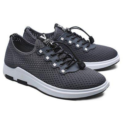 Male Stylish Hollow Mesh Lace Up Light Leisure SneakersMen's Sneakers<br>Male Stylish Hollow Mesh Lace Up Light Leisure Sneakers<br><br>Closure Type: Lace-Up<br>Contents: 1 x Pair of Shoes<br>Decoration: Hollow Out<br>Materials: Plastic, Sea Glass, Mesh<br>Occasion: Tea Party, Sports, Shopping, Running, Outdoor Clothing, Holiday, Daily, Casual, Party<br>Outsole Material: Plastic<br>Package Size ( L x W x H ): 25.00 x 18.00 x 11.00 cm / 9.84 x 7.09 x 4.33 inches<br>Package Weights: 0.80kg<br>Pattern Type: Solid<br>Seasons: Autumn,Spring,Summer<br>Style: Modern, Leisure, Fashion, Comfortable, Casual<br>Toe Shape: Round Toe<br>Type: Sports Shoes<br>Upper Material: Mesh