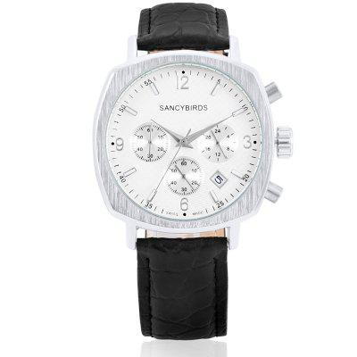 Sancybirds FY9808JS Quartz Men WatchMens Watches<br>Sancybirds FY9808JS Quartz Men Watch<br><br>Band material: Leather<br>Band size: 19.9 x 2.3 cm<br>Brand: SANCYBIRDS<br>Case material: Alloy<br>Clasp type: Pin buckle<br>Dial size: 4 x 4 x 1.1 cm<br>Display type: Analog<br>Movement type: Quartz watch<br>Package Contents: 1 x Watch, 1 x Box<br>Package size (L x W x H): 24.90 x 5.00 x 2.10 cm / 9.8 x 1.97 x 0.83 inches<br>Package weight: 0.2200 kg<br>Product size (L x W x H): 23.90 x 4.00 x 1.10 cm / 9.41 x 1.57 x 0.43 inches<br>Product weight: 0.0650 kg<br>Shape of the dial: Round<br>Watch style: Fashion, Business, Casual<br>Watches categories: Men<br>Water resistance : 30 meters<br>Wearable length: 17.7 - 21.9 cm