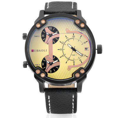 JUBAOLI 1167 Stylish Quartz Men WatchMens Watches<br>JUBAOLI 1167 Stylish Quartz Men Watch<br><br>Band material: Leather<br>Band size: 21 x 1.8 cm<br>Brand: Jubaoli<br>Case material: Alloy<br>Clasp type: Pin buckle<br>Dial size: 5 x 5 x 1.2 cm<br>Display type: Analog<br>Movement type: Quartz watch<br>Package Contents: 1 x Watch, 1 x Box<br>Package size (L x W x H): 34.50 x 13.00 x 6.50 cm / 13.58 x 5.12 x 2.56 inches<br>Package weight: 0.1300 kg<br>Product size (L x W x H): 26.00 x 5.00 x 1.20 cm / 10.24 x 1.97 x 0.47 inches<br>Product weight: 0.0780 kg<br>Shape of the dial: Round<br>Watch style: Casual, Fashion, Cool<br>Watches categories: Men