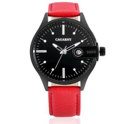 CAGARNY 6873 Quartz Women WatchWomens Watches<br>CAGARNY 6873 Quartz Women Watch<br><br>Band material: Genuine Leather<br>Band size: 20.4 x 1.8 cm<br>Brand: Cagarny<br>Case material: Alloy<br>Clasp type: Pin buckle<br>Dial size: 4.2 x 4.2 x 1.1 cm<br>Display type: Analog<br>Movement type: Quartz watch<br>Package Contents: 1 x Watch, 1 x Box<br>Package size (L x W x H): 35.60 x 12.20 x 8.60 cm / 14.02 x 4.8 x 3.39 inches<br>Package weight: 0.1500 kg<br>Product size (L x W x H): 24.60 x 4.20 x 1.10 cm / 9.69 x 1.65 x 0.43 inches<br>Product weight: 0.0520 kg<br>Shape of the dial: Round<br>Watch style: Casual, Fashion<br>Watches categories: Women<br>Water resistance : Life water resistant<br>Wearable length: 18.2 - 22.3 cm
