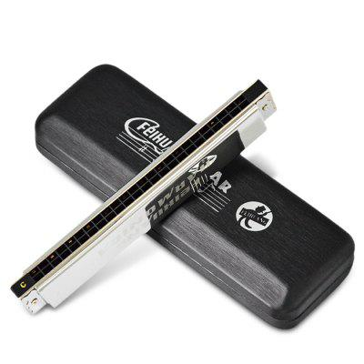 FEIHUANG F2409 24-hole Stress C Octave HarmonicaHarmonica<br>FEIHUANG F2409 24-hole Stress C Octave Harmonica<br><br>Brand: FEIHUANG<br>Hole Number: 24<br>Jean Body Material: Resin<br>Manner of Articulation: Octave<br>Package Contents: 1 x Harmonica<br>Package size: 18.00 x 5.00 x 2.50 cm / 7.09 x 1.97 x 0.98 inches<br>Package weight: 0.3300 kg<br>Product size: 17.00 x 4.00 x 1.80 cm / 6.69 x 1.57 x 0.71 inches<br>Prouduct Weight: 0.145 kg