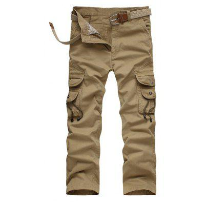 Buy KHAKI Outdoor Pockets Loose All-match Cargo Pants for Men for $33.84 in GearBest store