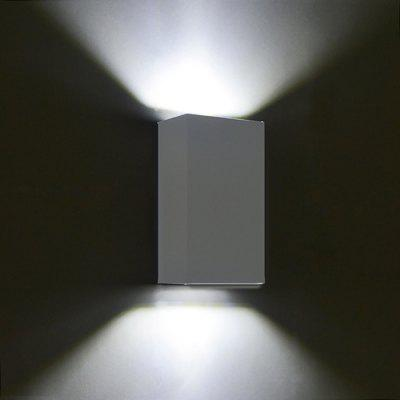 Buy GRAY WHITE JIAWEN BD 10W 004 LED Rectangle Double Sides Wall Light for $26.78 in GearBest store
