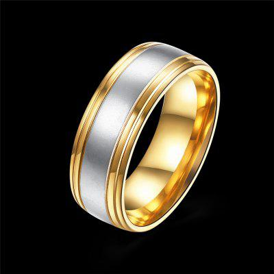 Titanium Steel Stitching Design RingRings<br>Titanium Steel Stitching Design Ring<br><br>Fabric: Others<br>Package Contents: 1 x Ring<br>Package size (L x W x H): 7.00 x 7.00 x 3.00 cm / 2.76 x 2.76 x 1.18 inches<br>Package weight: 0.0480 kg<br>Product weight: 0.0080 kg<br>Style: Fashion<br>Type: Rings