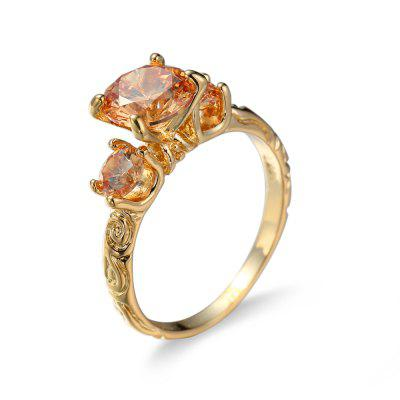 Female Fashionable Gold Plated RingRings<br>Female Fashionable Gold Plated Ring<br><br>Fabric: Copper,Zircon<br>Occasions: Party<br>Package Contents: 1 x Ring<br>Package size (L x W x H): 7.00 x 7.00 x 1.00 cm / 2.76 x 2.76 x 0.39 inches<br>Package weight: 0.0450 kg<br>Product weight: 0.0050 kg<br>Style: Fashion<br>Type: Rings