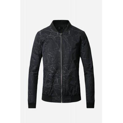 Male Classic Long Sleeve Jacquard Jacket