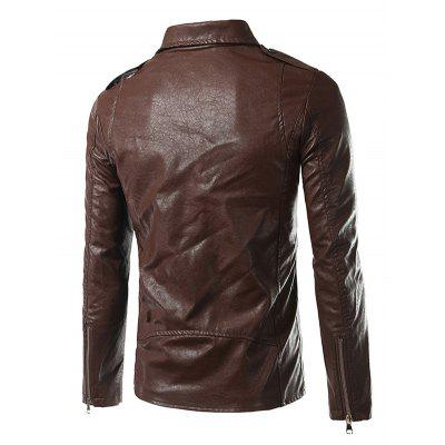 Male Fashionable Zipper Leather JacketMens Jackets &amp; Coats<br>Male Fashionable Zipper Leather Jacket<br><br>Closure Type: Zipper<br>Clothes Type: Jackets<br>Embellishment: Others<br>Materials: Polyester, PU<br>Package Content: 1 x Jacket<br>Package Dimension: 20.00 x 20.00 x 2.00 cm / 7.87 x 7.87 x 0.79 inches<br>Package weight: 0.8700 kg<br>Pattern Type: Others<br>Product weight: 0.8000 kg<br>Seasons: Autumn<br>Shirt Length: Regular<br>Sleeve Length: Long Sleeves<br>Style: Fashion<br>Thickness: Medium thickness