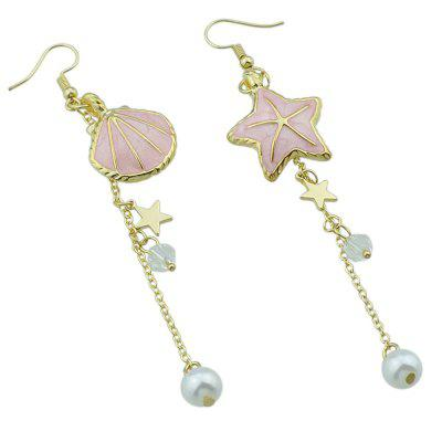 Women Stylish Alloy Shell Starfish Asymmetric EarringsEarrings<br>Women Stylish Alloy Shell Starfish Asymmetric Earrings<br><br>Occasions: Casual, Others<br>Package Contents: 1 x Pair of Earrings, 1 x Box<br>Package size (L x W x H): 8.40 x 5.00 x 2.40 cm / 3.31 x 1.97 x 0.94 inches<br>Package weight: 0.0570 kg<br>Product weight: 0.0120 kg<br>Style: Cute, Fashion<br>Type: Earrings