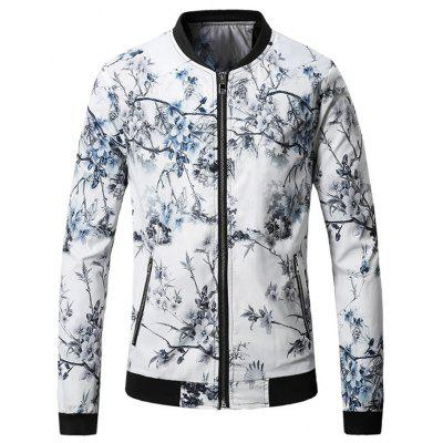 Chinese Style Print Male Jacket