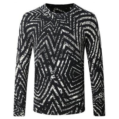 Casual Long Sleeve Printing Sweater