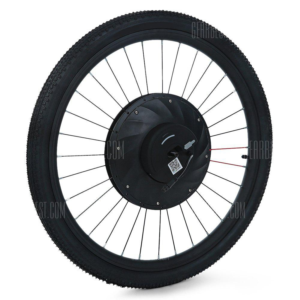 YUNZHILUN iMortor 26 inch Smart Electric Front Bicycle Wheel BLACK