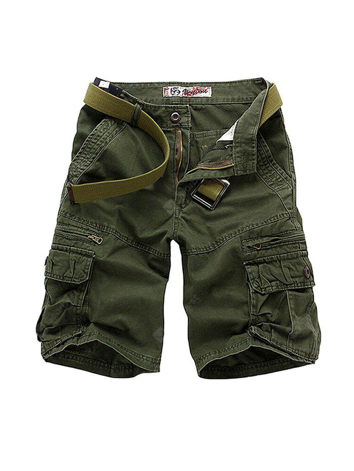 Male Large Size Cotton Overalls Shorts