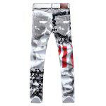 Buy Casual Stylish Printed Slim Jeans 40 WHITE