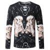 Novelty Print Knitted Male Sweater - COLORMIX