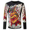 Monkey King Print Knitted Male Sweater - COLORMIX