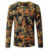 Chinese Style Print Knitted Male Sweater - FLORAL