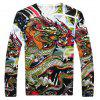 Chinese Style Dragon Print Male Sweater - COLORMIX