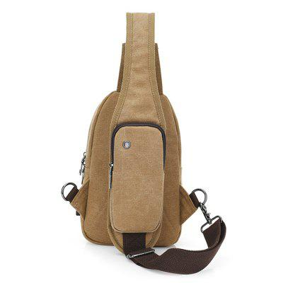 Men Leisure Simple Canvas Chest Bag with USB PortCrossbody Bags<br>Men Leisure Simple Canvas Chest Bag with USB Port<br><br>Features: Wearable<br>Gender: Men<br>Material: Canvas<br>Package Size(L x W x H): 20.00 x 7.00 x 30.00 cm / 7.87 x 2.76 x 11.81 inches<br>Package weight: 0.4400 kg<br>Packing List: 1 x Chest Bag<br>Product Size(L x W x H): 17.00 x 6.00 x 27.50 cm / 6.69 x 2.36 x 10.83 inches<br>Product weight: 0.3900 kg<br>Style: Casual, Fashion<br>Type: Shoulder bag