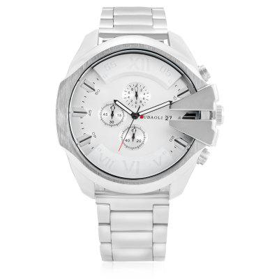 JUBAOLI GB - 9907 Quartz Men WatchMens Watches<br>JUBAOLI GB - 9907 Quartz Men Watch<br><br>Band material: Steel<br>Band size: 17.5 x 2.4cm<br>Brand: Jubaoli<br>Case material: Alloy<br>Clasp type: Folding clasp with safety<br>Dial size: 5.3 x 5.3 x 1.2cm<br>Display type: Analog<br>Movement type: Quartz watch<br>Package Contents: 1 x Watch, 1 x Box<br>Package size (L x W x H): 8.50 x 8.00 x 5.30 cm / 3.35 x 3.15 x 2.09 inches<br>Package weight: 0.2120 kg<br>Product size (L x W x H): 23.00 x 5.30 x 1.20 cm / 9.06 x 2.09 x 0.47 inches<br>Product weight: 0.1580 kg<br>Shape of the dial: Round<br>Watch style: Fashion<br>Watches categories: Men<br>Water resistance : 30 meters