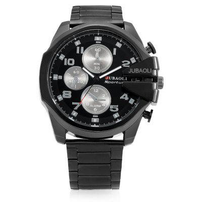 JUBAOLI G1161 Casual Design Men Wrist WatchMens Watches<br>JUBAOLI G1161 Casual Design Men Wrist Watch<br><br>Band material: Stainless Steel<br>Band size: 18 x 2.4cm<br>Brand: Jubaoli<br>Case material: Alloy<br>Clasp type: Folding clasp with safety<br>Dial size: 5.3 x 5.3 x 1.5cm<br>Display type: Analog-Digital<br>Movement type: Quartz watch<br>Package Contents: 1 x Mens Wrist, 1 x Packing Box<br>Package size (L x W x H): 8.50 x 8.00 x 5.30 cm / 3.35 x 3.15 x 2.09 inches<br>Package weight: 0.1900 kg<br>Product size (L x W x H): 5.30 x 1.20 x 18.00 cm / 2.09 x 0.47 x 7.09 inches<br>Product weight: 0.1460 kg<br>Shape of the dial: Round<br>Watch style: Casual<br>Watches categories: Men