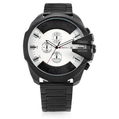 JUBAOLI G9907 Quartz Men WatchMens Watches<br>JUBAOLI G9907 Quartz Men Watch<br><br>Band material: Steel<br>Band size: 16.5 x 2.4cm<br>Brand: Jubaoli<br>Case material: Alloy<br>Clasp type: Folding clasp with safety<br>Dial size: 5.3 x 5.3 x 1.2cm<br>Display type: Analog<br>Movement type: Quartz watch<br>Package Contents: 1 x Watch, 1 x Box<br>Package size (L x W x H): 8.50 x 8.00 x 5.30 cm / 3.35 x 3.15 x 2.09 inches<br>Package weight: 0.2140 kg<br>Product size (L x W x H): 22.00 x 5.30 x 1.20 cm / 8.66 x 2.09 x 0.47 inches<br>Product weight: 0.1600 kg<br>Shape of the dial: Round<br>Watch style: Fashion<br>Watches categories: Men<br>Water resistance : 30 meters