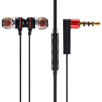 KDK - 205 In-ear Wired Metal Magnetic Stereo Earphones for Sports