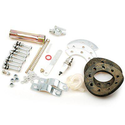 80CC Engine Kit for Motorcycle BicycleOther  Motorcycle Accessories<br>80CC Engine Kit for Motorcycle Bicycle<br><br>Package Contents: 1 x 80cc 2-stroke Engine, 1 x Back Teardrop Gas Tank ( 2L ), 1 x Carburetor, 1 x CDI Ignition Assembly, 1 x Throttle Cable, 1 x Throttle Handlebar Set, 1 x Standard Bike Chain, 2 x 9-hole Clamp Pads,<br>Package size (L x W x H): 42.00 x 32.00 x 20.00 cm / 16.54 x 12.6 x 7.87 inches<br>Package weight: 12.0500 kg<br>Product size (L x W x H): 41.00 x 31.00 x 19.00 cm / 16.14 x 12.2 x 7.48 inches<br>Product weight: 11.0000 kg
